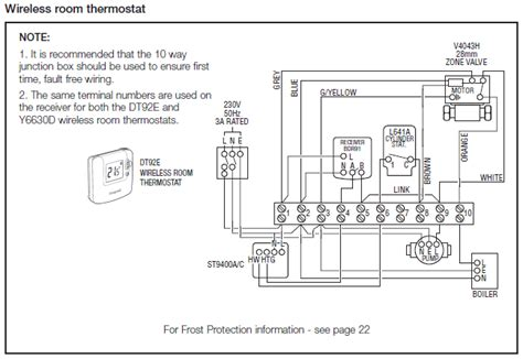 honeywell cylinder thermostat wiring diagram www