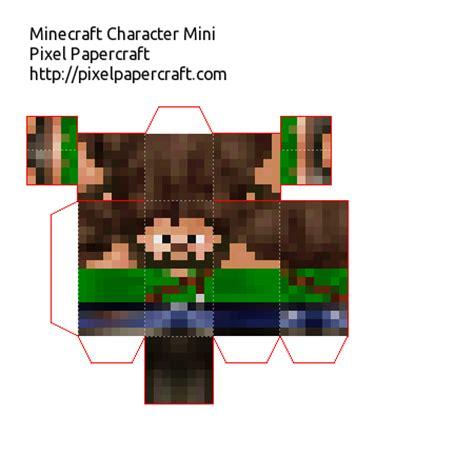 Minecraft Pixel Papercraft - papercraft pixel gun 3d default skin mini