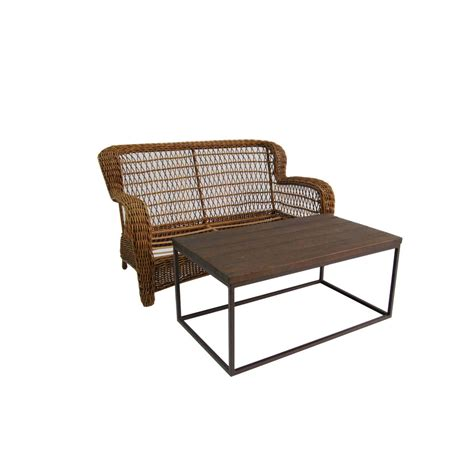 Patio Table Set Lowes Shop Allen Roth 2 Belanore Brown Steel Patio