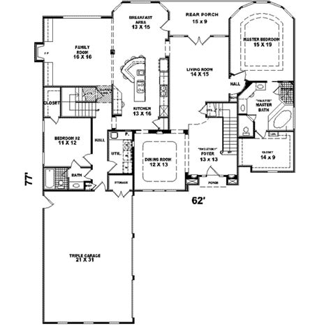 traditional plan 2 525 square feet 4 bedrooms 3 traditional style house plan 4 beds 3 00 baths 3672 sq