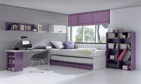 Attrayant Exemple De Chambre Ado #2: chambre-fille-violet-blanc.jpg