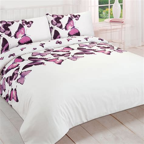 Pretty Bed Sets Pretty Butterfly Duvet Cover Reversible Bedding Set For Bedroom Ebay