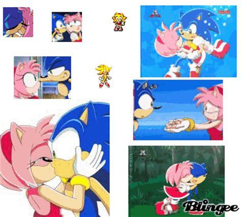 imagenes geniales de sonic immagine amy e sonic 94490521 blingee com