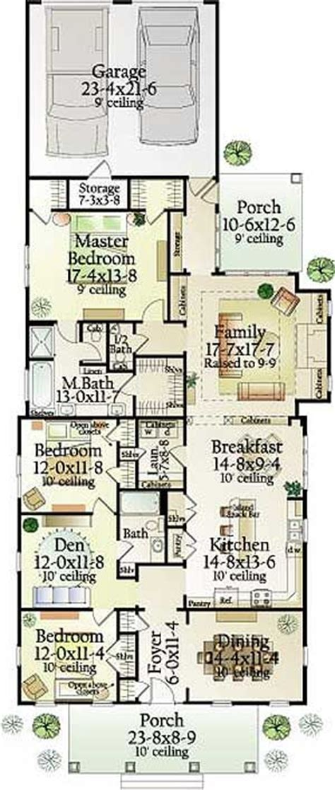 narrow lot house plans with rear garage 100 best images about house plans on pinterest farmhouse