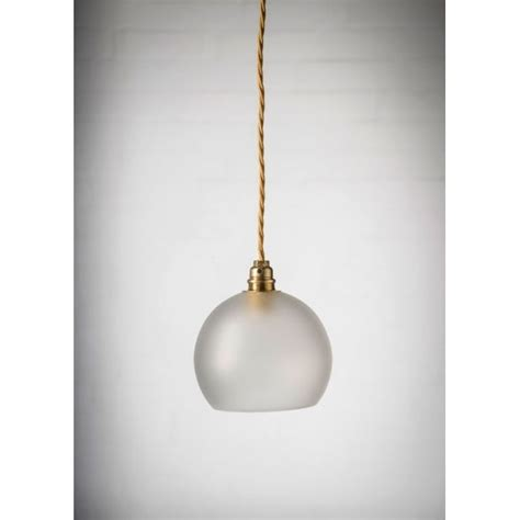 Frosted Glass Pendant Light Frosted Glass Globe Ceiling Pendant Light Hanging On Gold Braided Cable