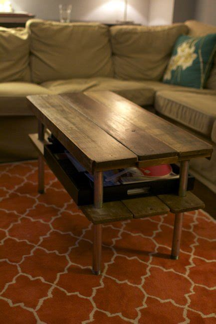 build  rustic wooden coffee table  scratch