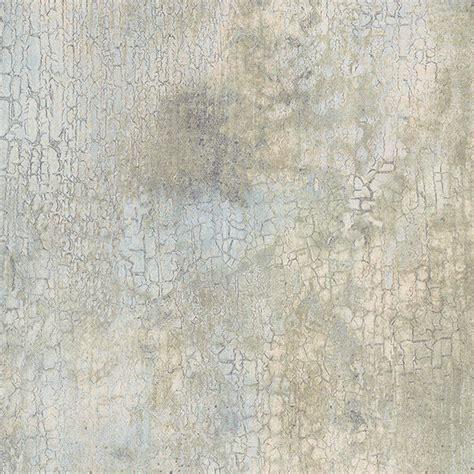 Blue green cream beige faux crackle wallpaper kb20225