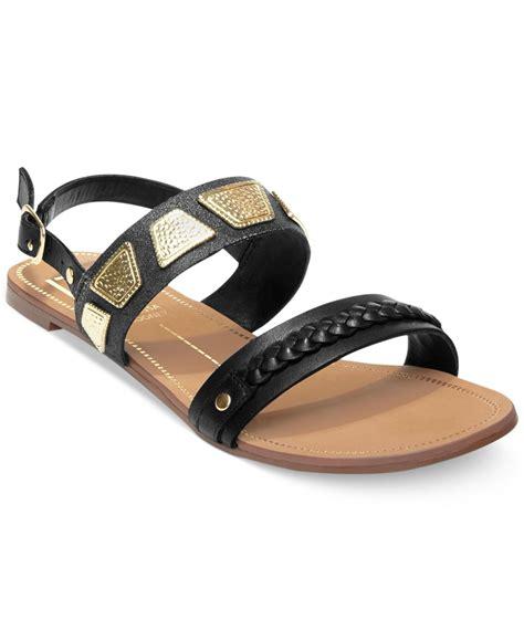 dv sandals lyst dolce vita dv by daliah flat sandals in black