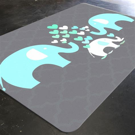 Elephant Rug Elephant Nursery Decor Rugs For Nursery Boy Nursery Rugs