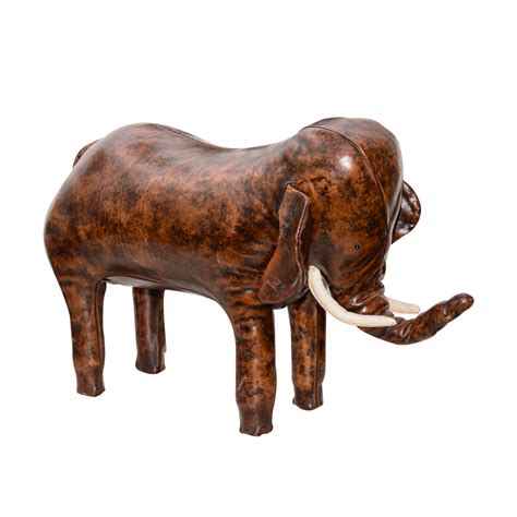 leather elephant ottoman leather elephant footstool on antique row west palm