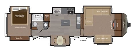 fifth wheel trailer floor plans montana 5th wheel floor plans 2016 thecarpets co