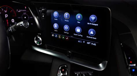 chevys  corvette features android auto nfc pairing