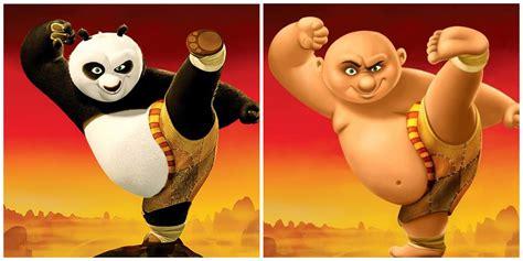 Boy Kungfu Panda characters incarnate into humans artists imaginations king shrek