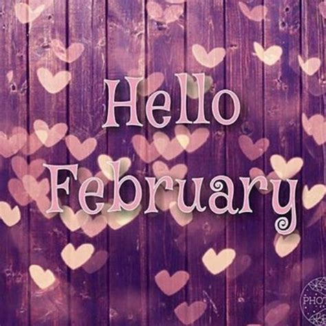 Hello February Heart Picture Pictures, Photos, and Images