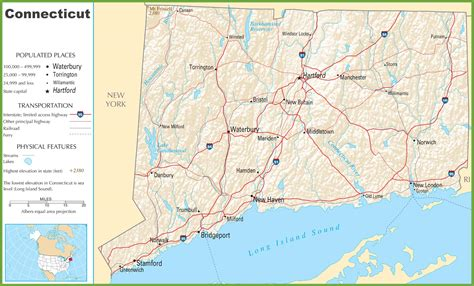 usa connecticut map usa map with states and landforms
