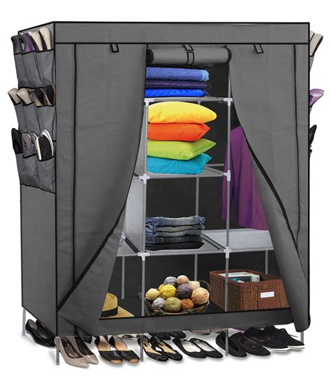 69 quot portable closet storage organizer clothes wardrobe