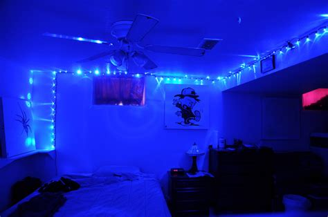 Blue Bedroom I Love Blue Led Lights Eric Cabebe Flickr Blue Bedroom Lights