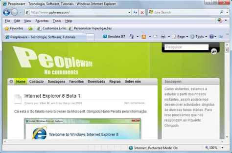 download full version exploration internet explorer 8 beta 1 for windows xp free download