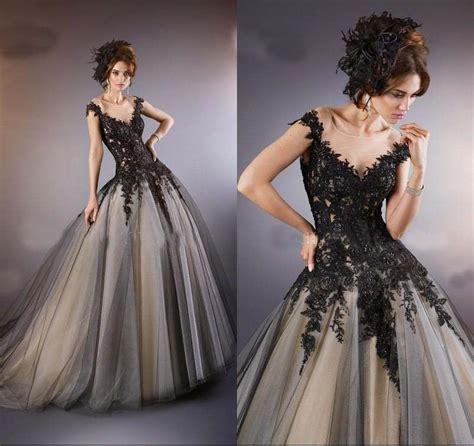 schwarz hochzeitskleid brautkleid abendkleid ballkleid