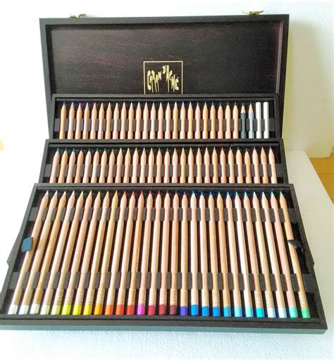 caran d ache colored pencils caran d ache luminance color pencils wood box 6901 476 for
