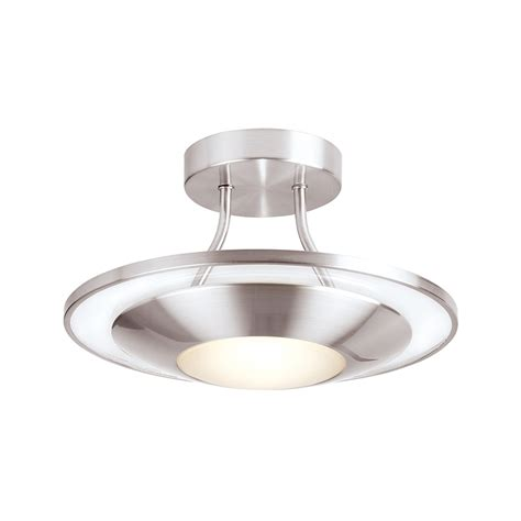 Ceiling Lights Halogen Endon 387 30sc Halogen Semi Flush In Satin Chrome Lighting From The Home Lighting Centre Uk