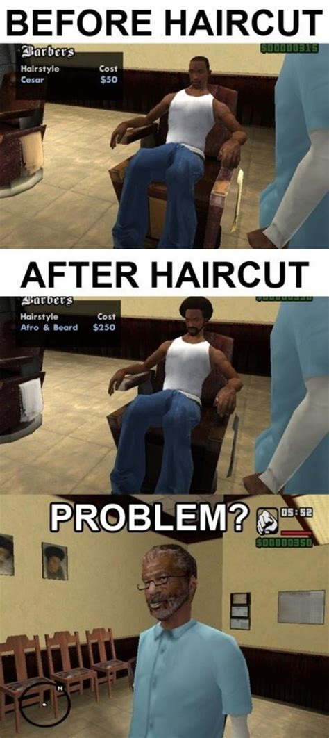 cj haircuts hours gtasa logic grand theft auto logic know your meme