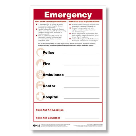 Emergency Numbers Card Template by Emergency Numbers Poster Emergency Posters