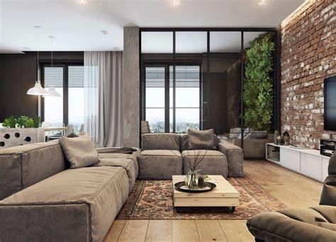 danish living room living room industrial with wall mural industrial living rooms with eccentric brick walls