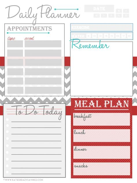 printable planner pages daily 71 best daily weekly organizer insert printables images on