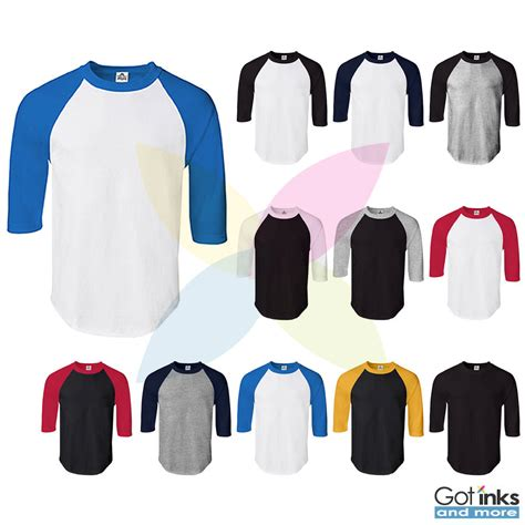 Jkt48 Raglan Sleeves Team T new mens raglan 3 4 sleeve baseball plain jersey team