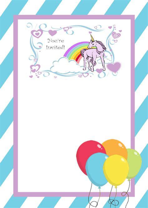 unicorn birthday invitation templates unicorn invitation template invitations