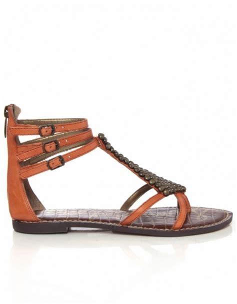 sam edelman studded sandals sam edelman studded sandals in orange lyst
