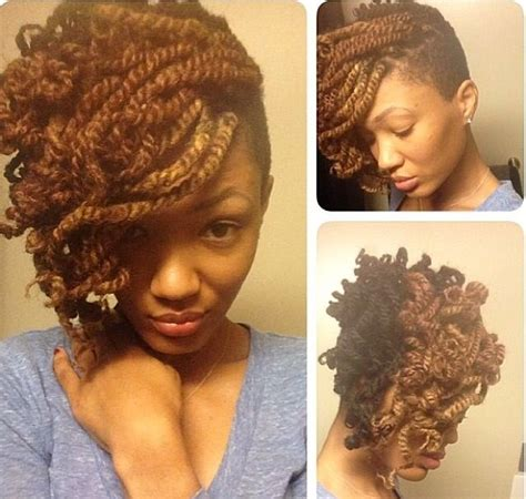 kinky twist with shaved sides peppy kinky twist hairstyles for black women hairstyle