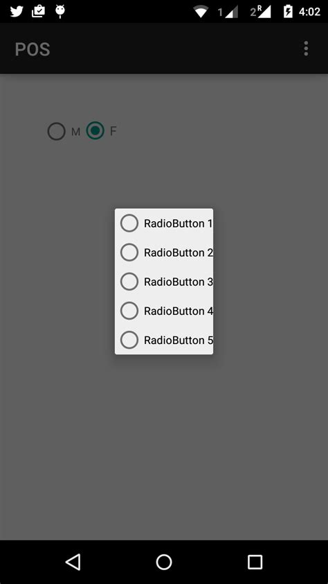 android layout gravity values create a custom dialog with radio buttons list android
