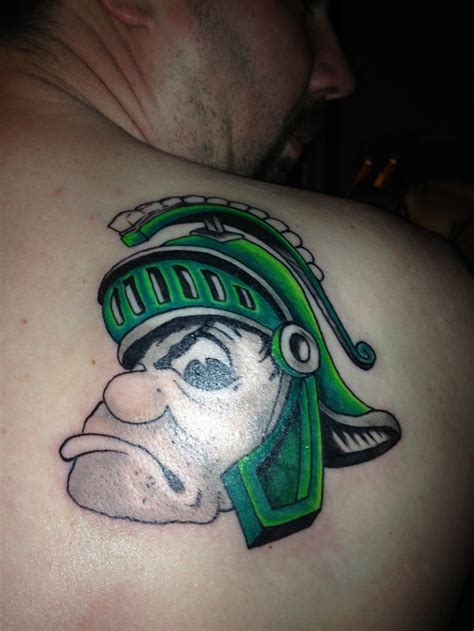 michigan state tattoo 38 best spartan ink images on ideas