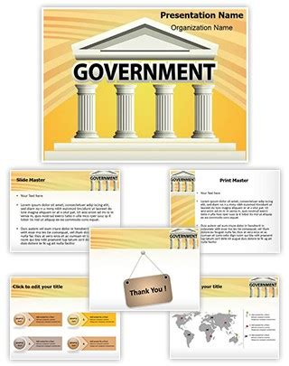 powerpoint themes government professional architecture government building editable