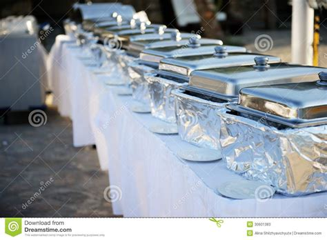 how to set a buffet table with chafing dishes banquet table with chafing dishes stock photos image