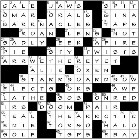 boat in jaws crossword clue writer kingsley crossword jaws for the blind