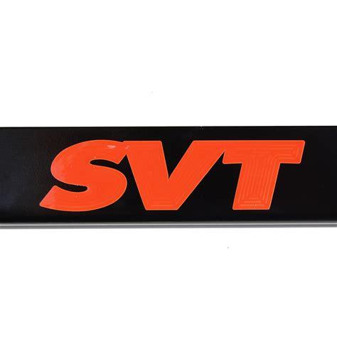 ford raptor logo ford svt raptor satin black license plate frame orange