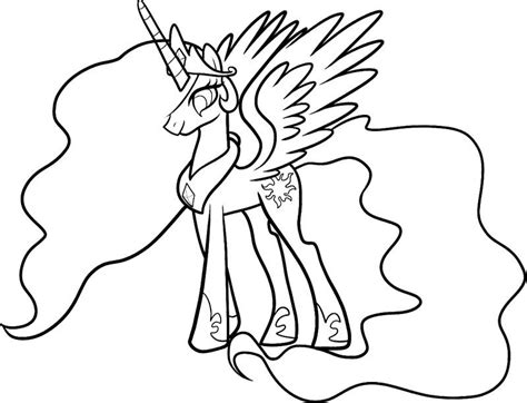 coloring page my little pony celestia celestia my little pony coloring page my little pony