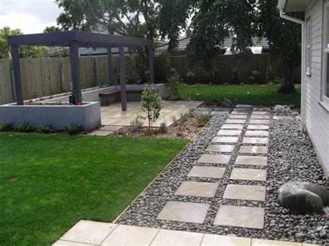 Patio Ideas Nz River Stones And Pavers Change Steps To The Left Of The