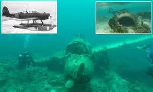 Photos show the wrecks of us and japanese fighter planes shot down in