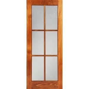 home depot glass interior doors milette 30x80 interior 6 lite door clear pine