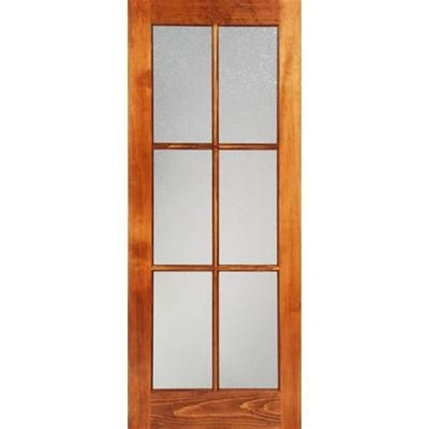 home depot double doors interior milette 30x80 interior 6 lite french door clear pine with privacy konfetti glass home depot