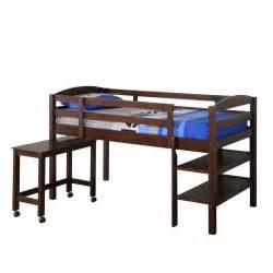 Walker edison twin wood loft bed w desk by oj commerce 449 00 620