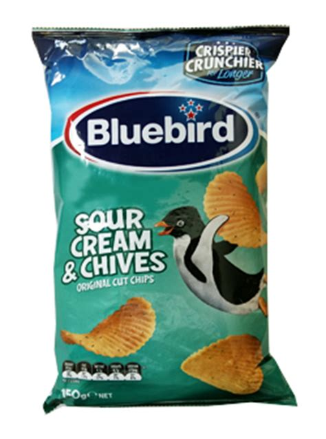 bluebird sour cream chive chips chips from new zealand