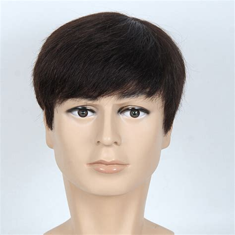 wigs for middle aged men new arrival middle aged man natural black short wigs