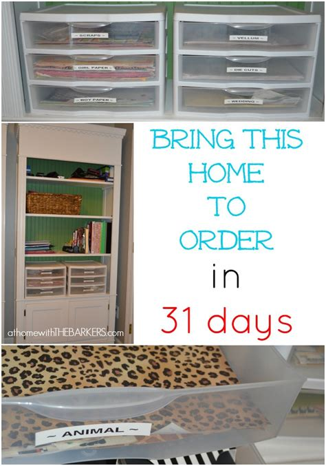 Craft Room Paper Storage - 31 days scrapbook paper storage craft room at home