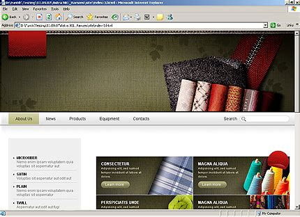 templates for textile website industrial website template 24425