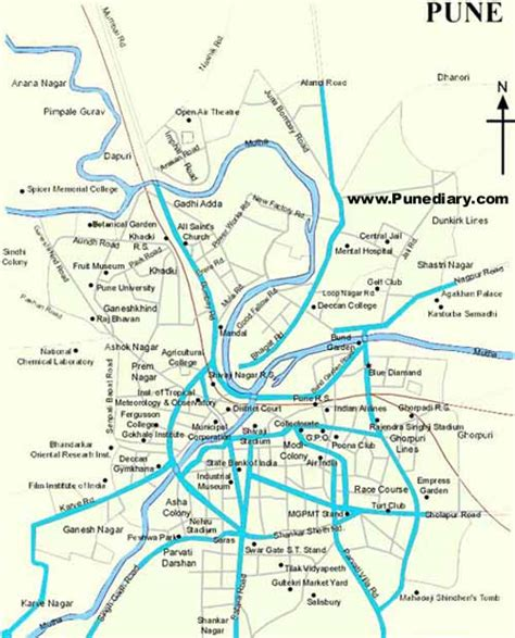city map of pune addresses pune diary